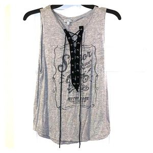 Motorcycle graphic tank top